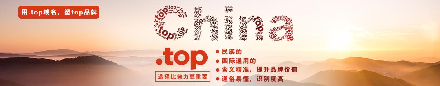 用top域名,塑top品牌!